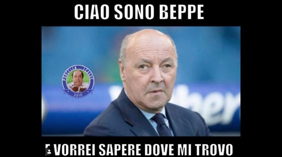 <p>La sconfitta in Europa League manda a casa la squadra di Spalletti: i fotomontaggi impazzano sui social</p>