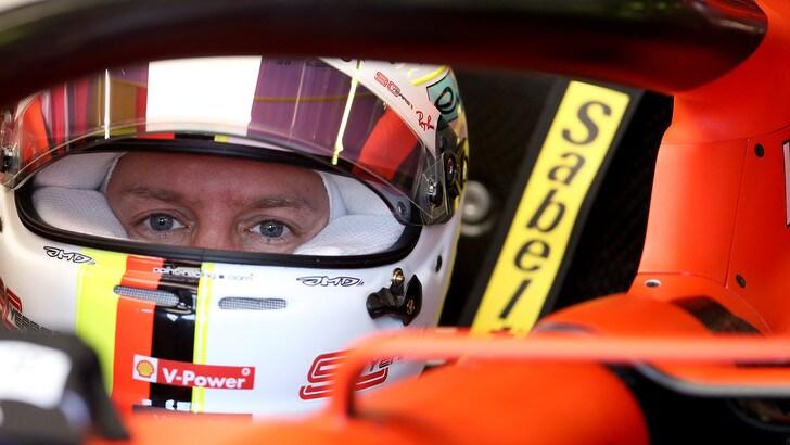 F1 Ferrari, Vettel: «Giornata difficile»