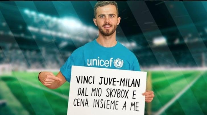 Miralem Pjanic lancia la prima campagna di raccolta fondi su Wishraiser per l'UNICEF
