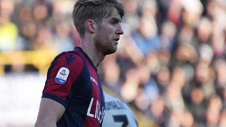 Serie A Bologna, distorsione alla caviglia sinistra per Helander