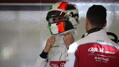 F1 Alfa Romeo, Giovinazzi: «Voglio ripartire dal Bahrain»
