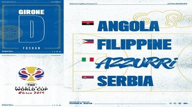 Basket, Mondiali: Italia al girone con Serbia, Filippine ed Angola