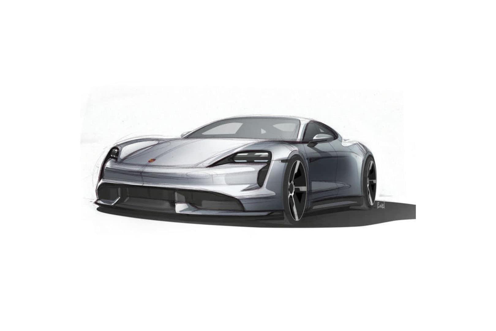 Porsche Taycan, bozzetti ufficiali: foto