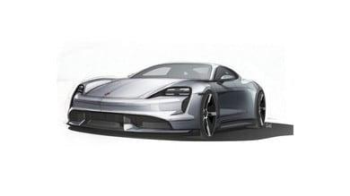 Porsche Taycan, svelati i bozzetti ufficiali
