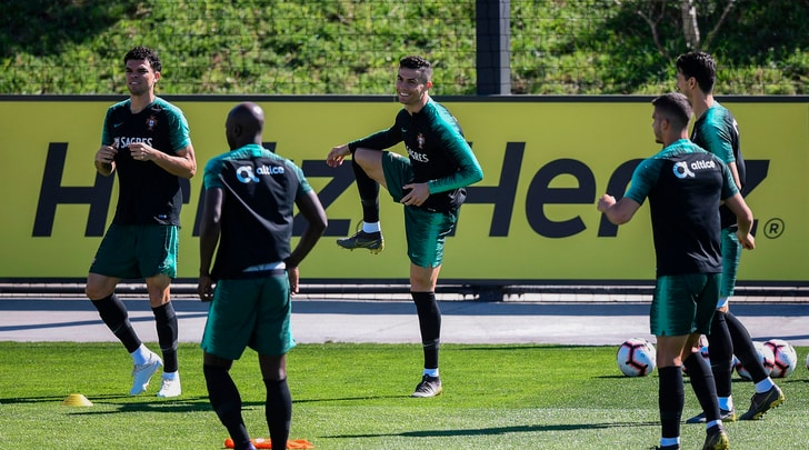 Portogallo,primo allenamento in nazionale per Ronaldo dopo 9 mesi