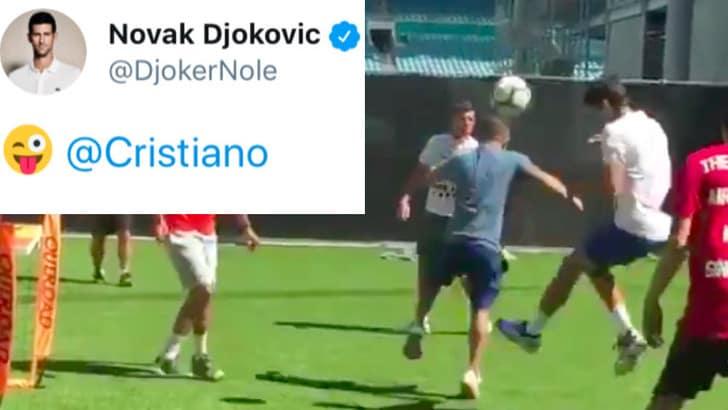 Tennis, Miami: Djokovic in gol come Cristiano Ronaldo