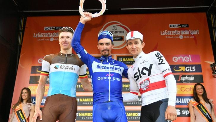Milano-Sanremo: trionfo Alaphilippe, Nibali ottavo