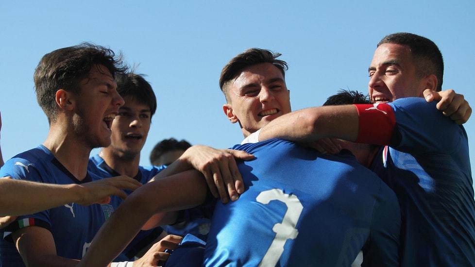 La gara amichevole ad Albano Laziale finisce 2-0 per gli azzurri con le reti di Casadei e Magazzù, entrambi delle giovanili nerazzurre