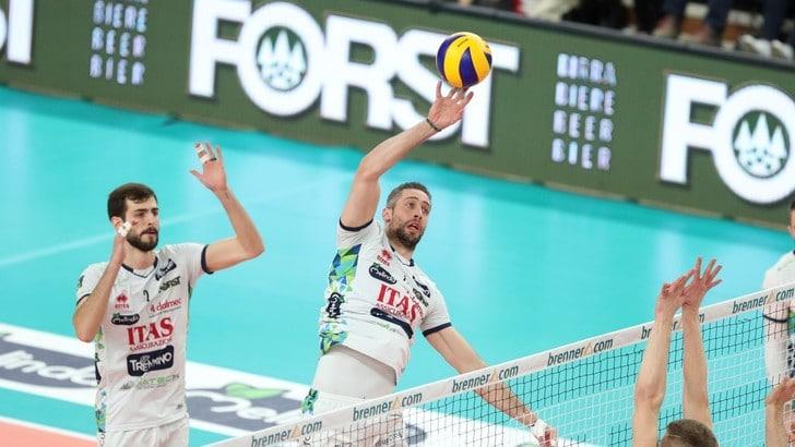 Volley: Superlega, Trento insuperabile in casa, Monza lotta ma si arrende