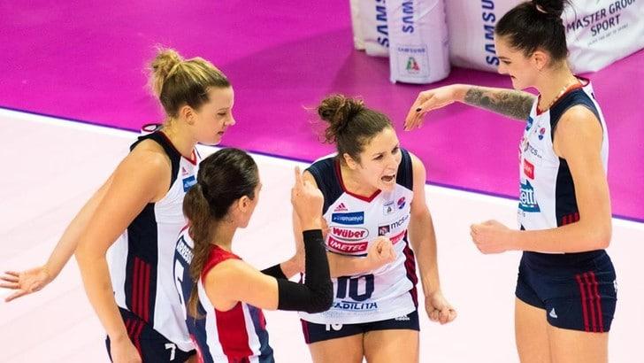 Volley: A1 Femminile, Bergamo spera ancora nei Play Off, battuta Scandicci