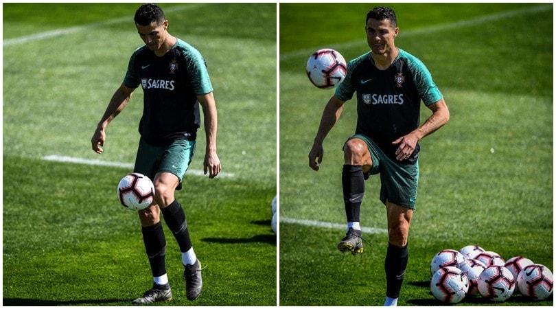 Portogallo: Cristiano Ronaldo scalda il piede in vista della Serbia