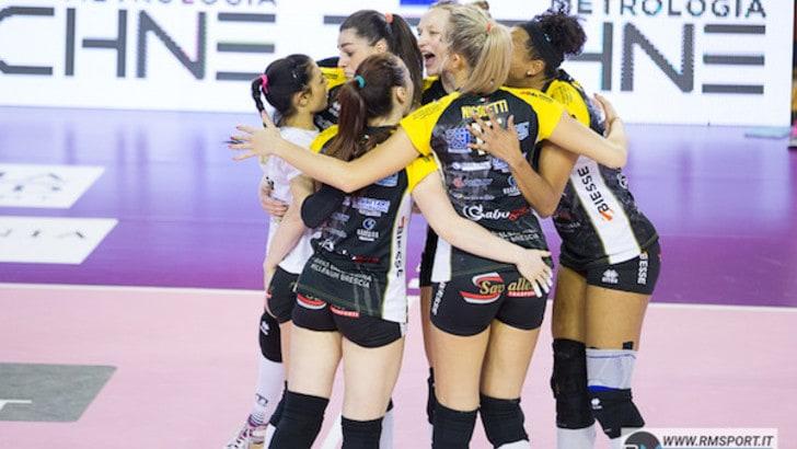 Volley: A1 Femminile, Conegliano ko a Brescia, il Club Italia festeggia la prima vittoria