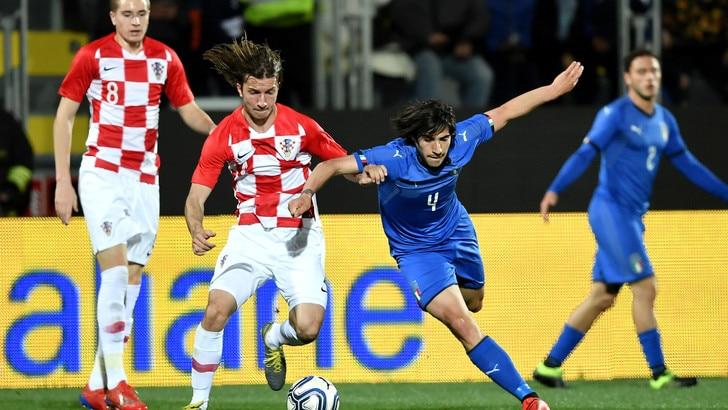 Under 21, l'Italia si fa rimontare: è 2-2 con la Croazia