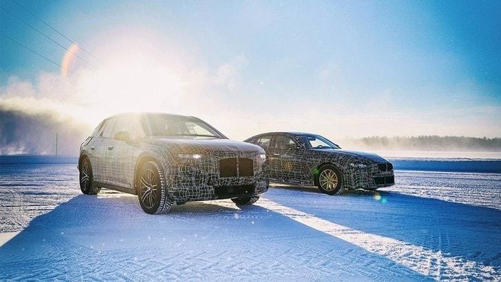 BMW iX3, i4 e iNext, test su neve e ghiaccio del Polo Nord