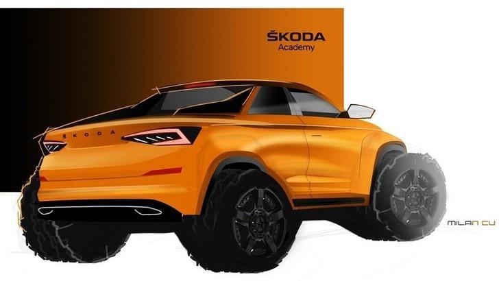 Skoda Kodiaq pick up, il concept realizzato dagli studenti