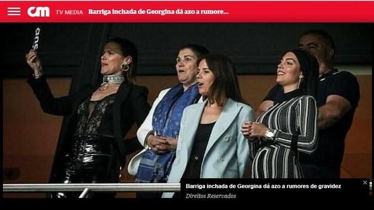 Correio de Manha: «Georgina incinta di Cristiano Ronaldo?»