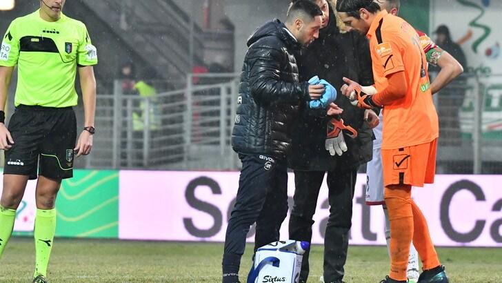 Serie B Carpi, frattura al polso destro per Colombi