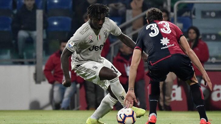 Cagliari-Juventus, cori razzisti contro Kean dopo il gol