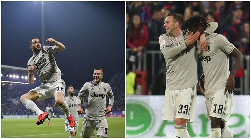 Juventus, ottavo Scudetto a un passo: Bonucci e Kean stendono il Cagliari