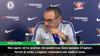 """Sarri: """"Sorpreso dai fatti di Cagliari. Bonucci ha sbagliato"""""""