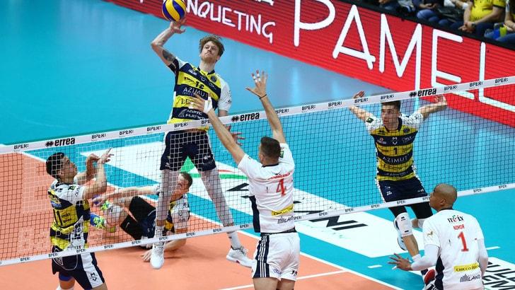 Volley: Superlega, Gara 2 dei Quarti per Milano, Padova, Verona e Monza da dentro o fuori