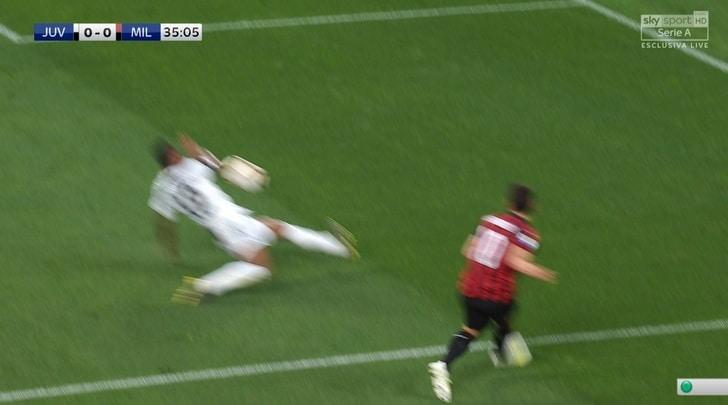 Moviola Juve-Milan, per Fabbri errori in serie: da Alex Sandro a Musacchio