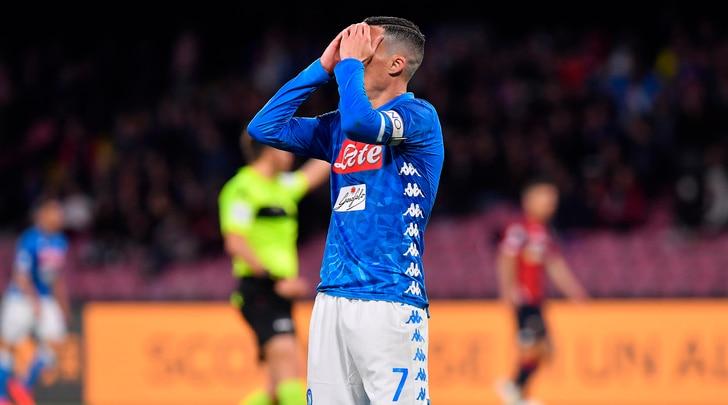 Napoli-Genoa 1-1: Juventus a un punto dallo scudetto