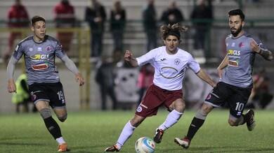 Serie C, Alessandria-Arezzo 2-3: grigi rimontati dalla banda Dal Canto