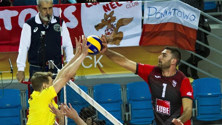 Volley: Champions League, Perugia ci prova a Kazan, la Lube a due set dalla Finale