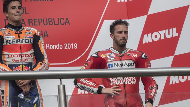 MotoGp Honda, Marquez: «Dovizioso è migliorato ancora»
