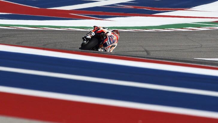 MotoGp Austin: dominio Marquez nelle quarte libere, Rossi 3°