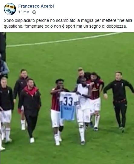 Il Milan batte la Lazio e Bakayoko festeggia con la maglia di Acerbi