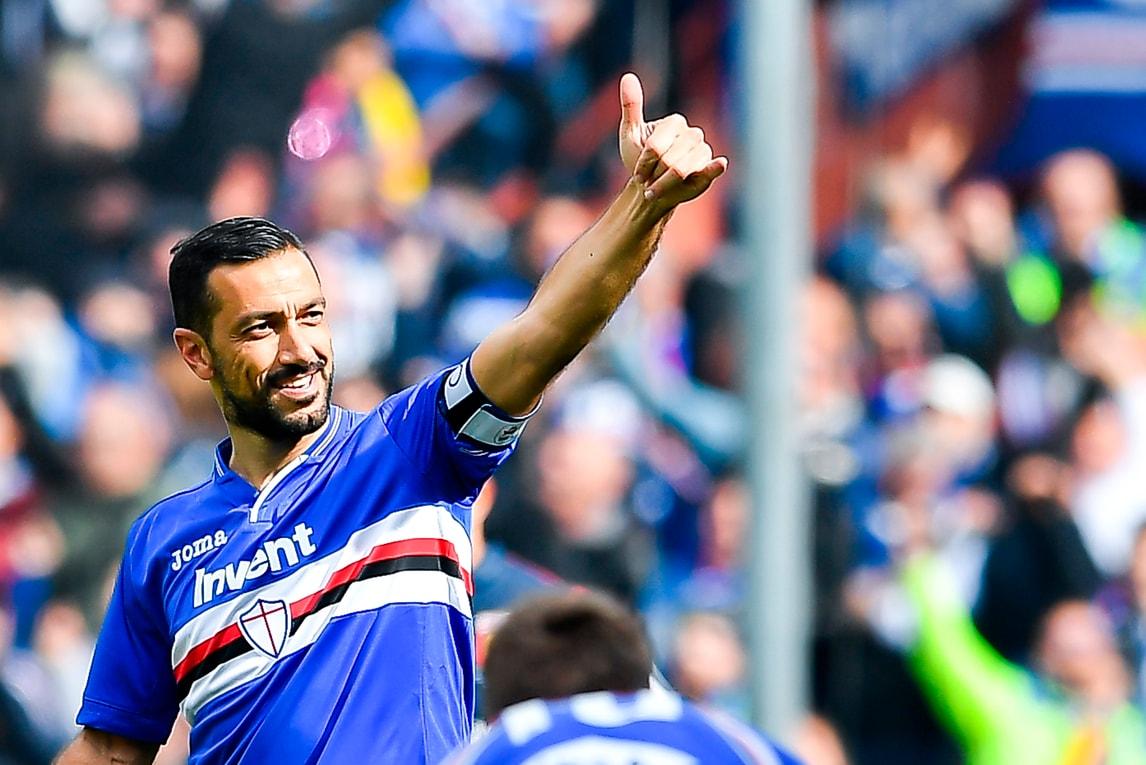 Quagliarella da urlo: derby alla Sampdoria. Fiorentina