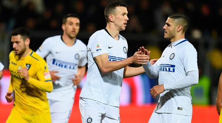 Frosinone-Inter 1-3: a segnoNainggolan, Perisic e Vecino