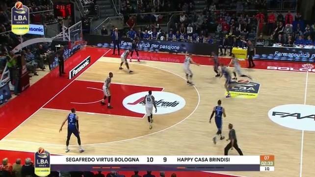Segafredo Virtus Bologna-Happy Casa Brindisi 61-77