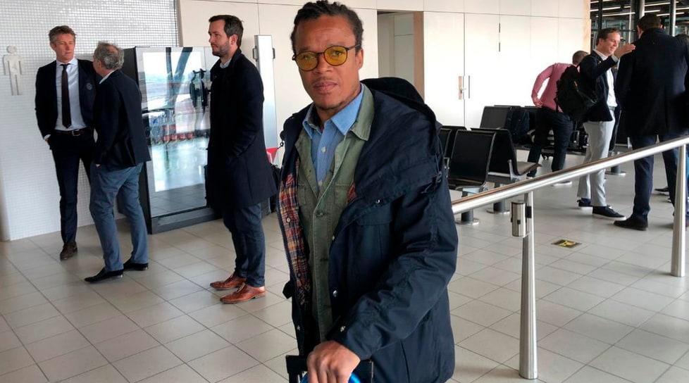 <p>Gli olandesi sono arrivati all'aeroporto di Caselle, in viaggio con la squadra anche il doppio ex(foto Twitter Ajax)</p>