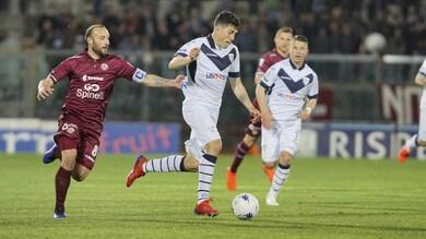 Serie B, Livorno beffato all'ultimo dal Brescia: Romagnoli match-winner