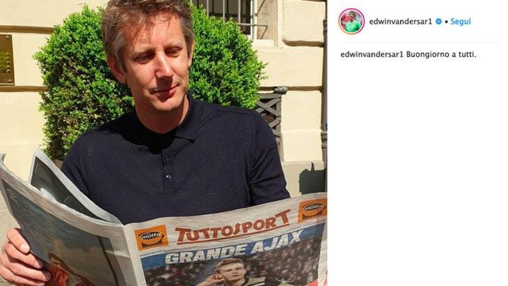 Ajax, Van Der Sar si gode la vittoria con...Tuttosport