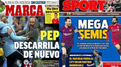 Champions, stampa estera: «City-Tottenham da pazzi. Guardiola deraglia ancora»