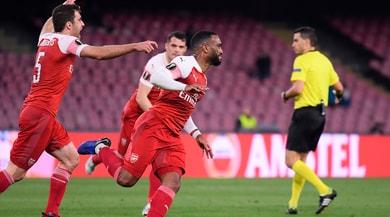 Napoli-Arsenal 0-1: punisce Lacazette, Ancelotti fuori