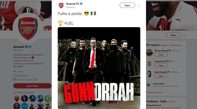 L'Arsenal vince a Napoli ed esulta citando Gomorra