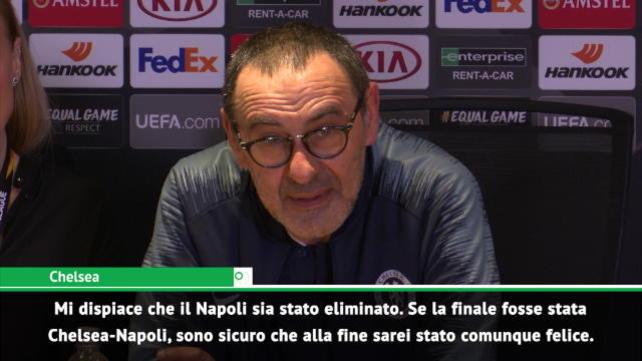 """Sarri: """"Dispiaciuto per il Napoli. Ora voglio la finale"""""""
