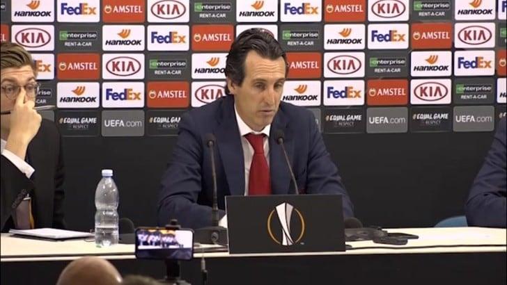 "Emery: ""Dico grazie ai nostri tifosi"""