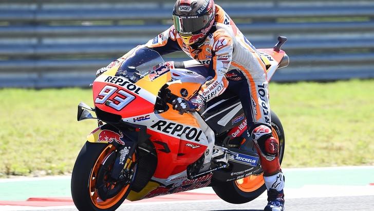 MotoGp Honda, Marquez: «Incidente inspiegabile»