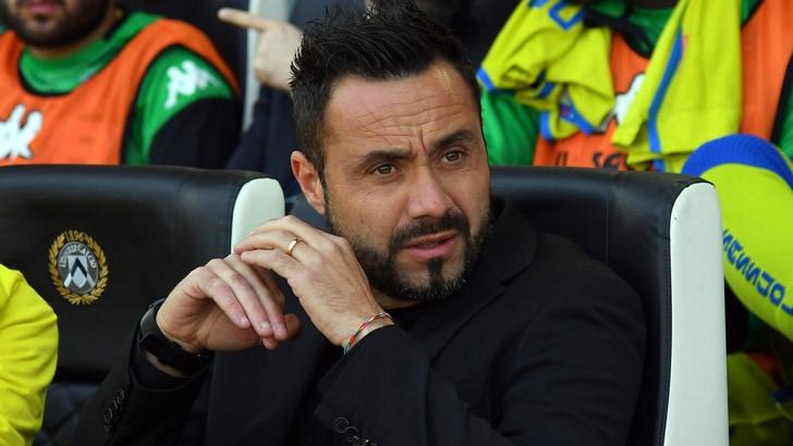Serie A Sassuolo, De Zerbi: «Soddisfatto a metà. Salvezza? Non ancora»