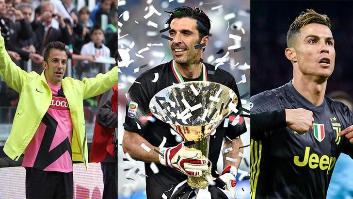 Juventus, i protagonisti degli otto Scudetti