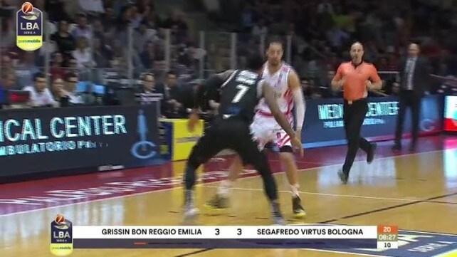 Grissin Bon Reggio Emilia-Segafredo Virtus Bologna 81-89