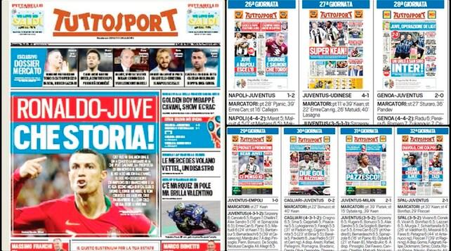 La cavalcata della Juve sulle pagine di Tuttosport