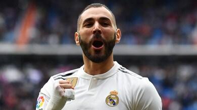 Liga, Real Madrid: la tripletta di Benzema piega l'Athletic Bilbao. Bene Valencia e Getafe