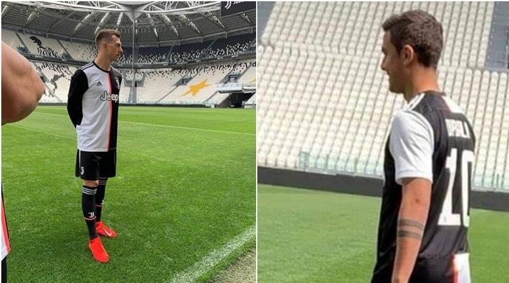 Juve, la nuova maglia indossata da Dybala e Bernardeschi. Vi piace o no?
